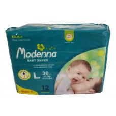 Modenna Diapers - 30 pcs/pack, Large,      Size 4 (22-37LBS) 9-17KG