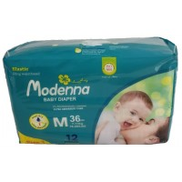 Modenna Diapers – 36 pcs/pack, Medium, Size 3 (16-28LBS) 7-13KG