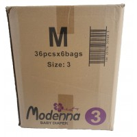 Economy Pack - 6 Bags/Carton - Medium (216 Diapers)                                                 Size 3 (16-28LBS) 7-13KG
